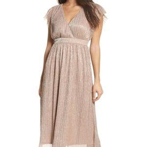 Chelsea28 Rose Metallic Midi Dress